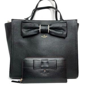Kate Spade Bow Bag and Wallet Set